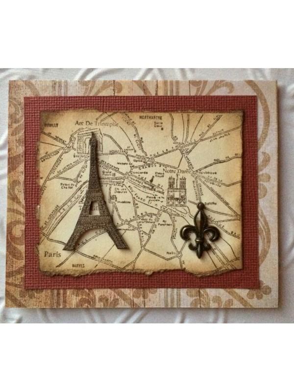 Eiffel Tower Rubber Stamp