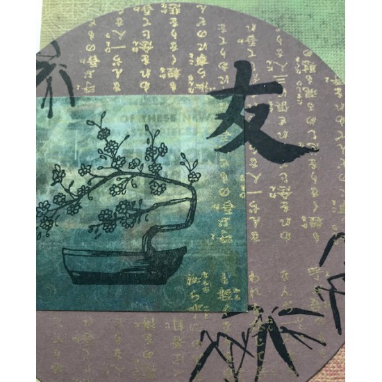 Asian Background Rubber Stamp