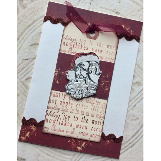 Santa's Smile Santa Claus Rubber Stamp