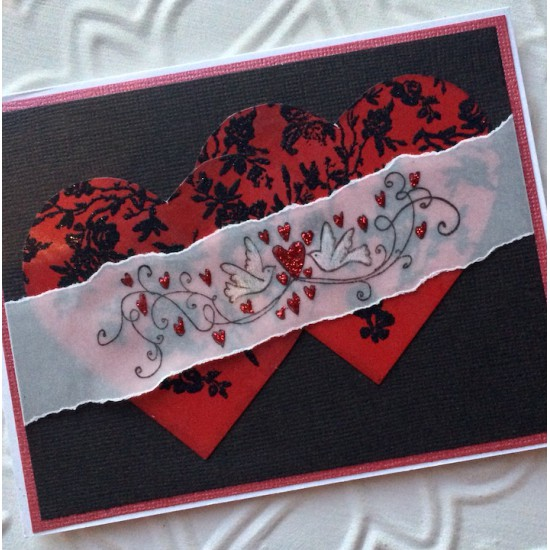 Rose Background Rubber Stamp