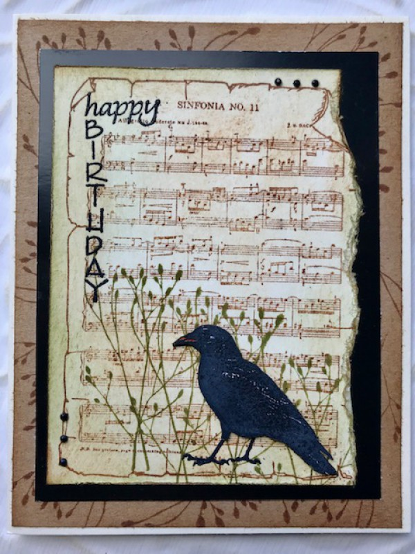Sinfonia Music Background Rubber Stamp