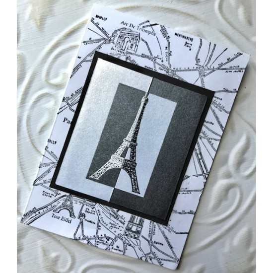 Carte de Paris Rubber Stamp