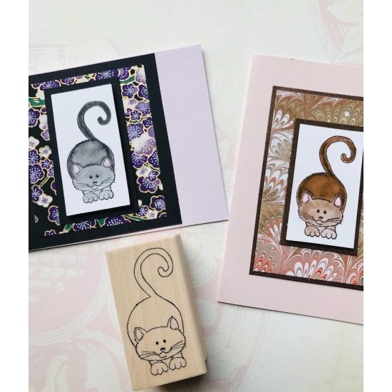 Crouching Kitty Rubber Stamp