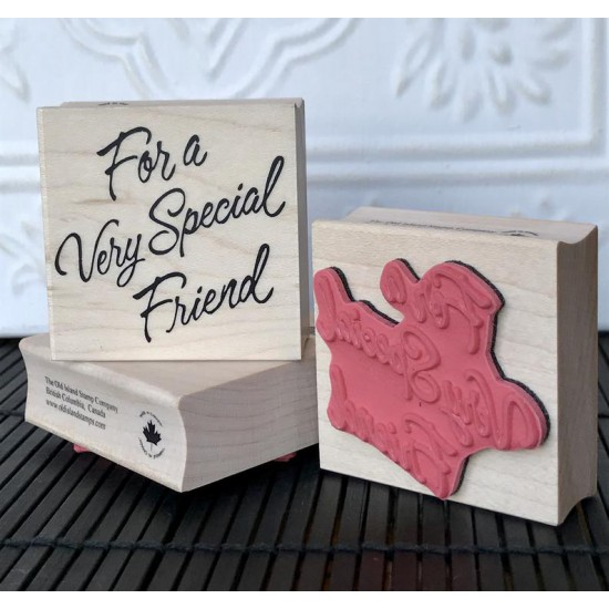 For a Very Special Friend Rubber Stamp