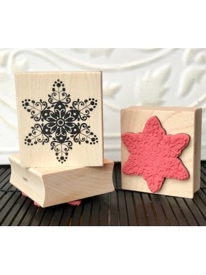 Blossom Snowflake Rubber Stamp