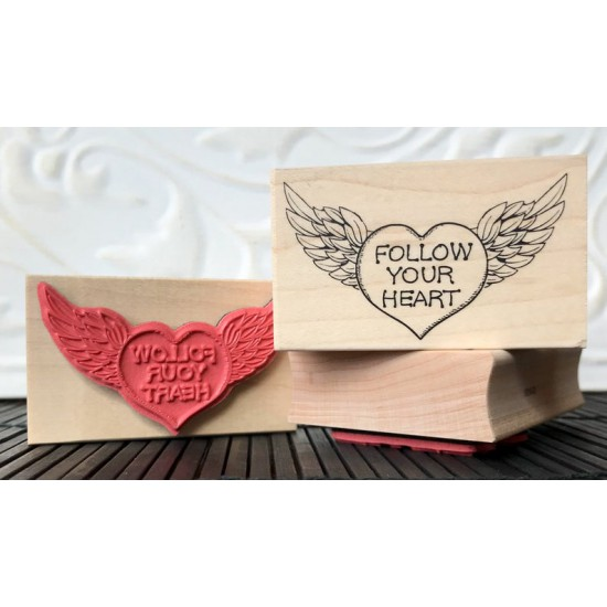 Follow Your Heart Rubber Stamp
