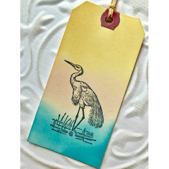 Egret Bird Rubber Stamp