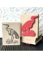 Egret Bird Rubber Stamp