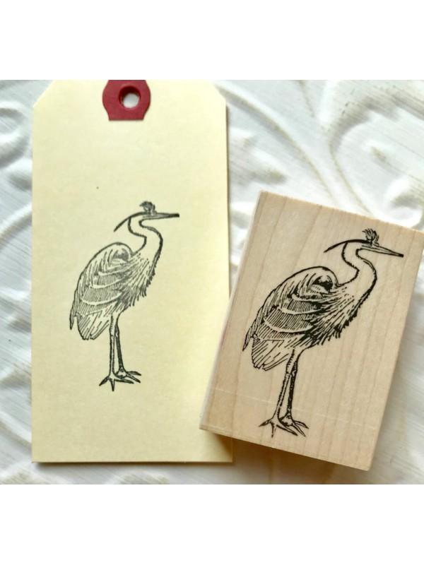 Crane Bird Rubber Stamp