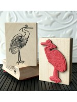 Crane Bird Rubber Stamp