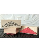 Floral Scroll Rubber Stamp