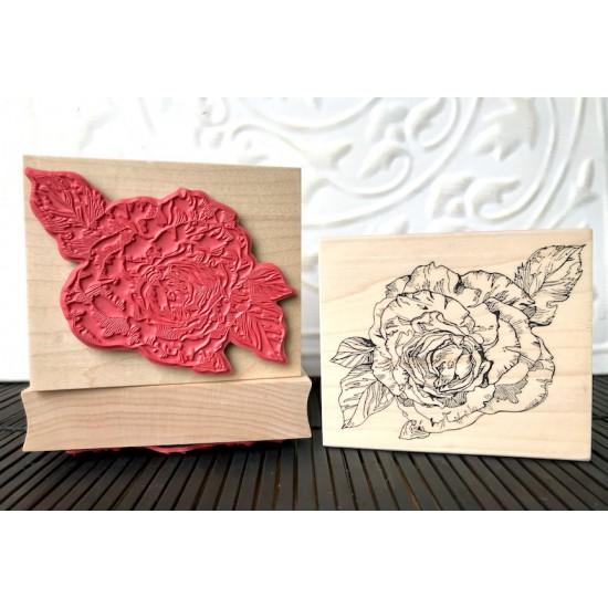 Tea Rose Rubber Stamp