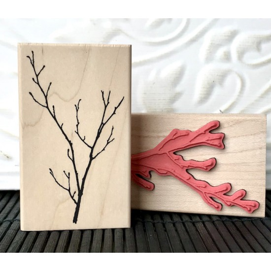 Winter Branch Rubber Stamp