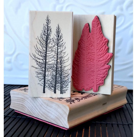 Deadwood Trees Rubber Stamp