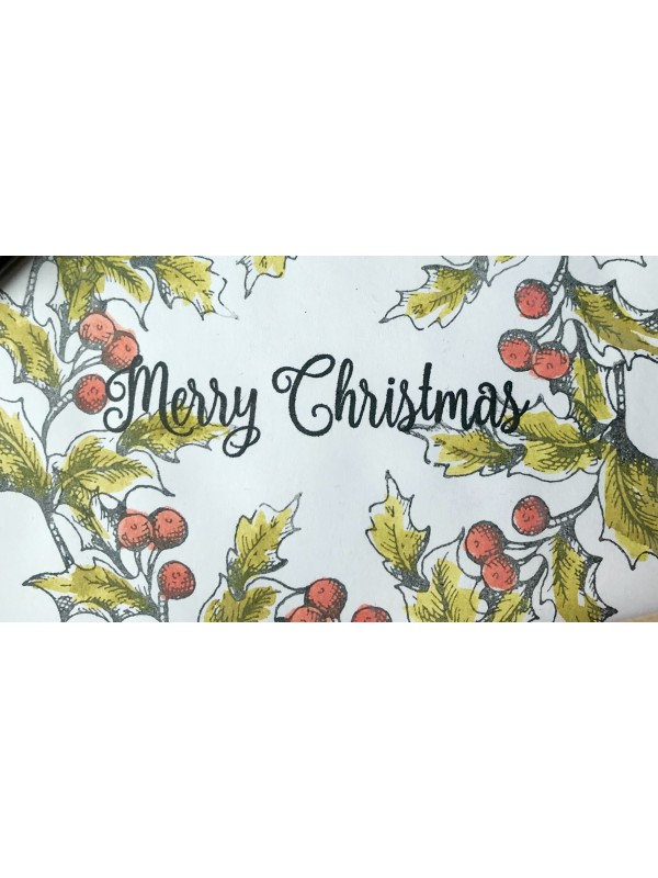 Large Merry Christmas Script Rubber Stamp