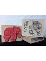 Jaipur Elephant - Indian Elephant Rubber Stamp