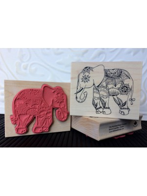 Jaipur Elephant - Indian Elephant Rubber Stamp