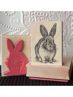 Vintage Rabbit Rubber Stamp