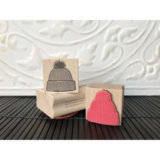 Knitted Toque Rubber Stamp