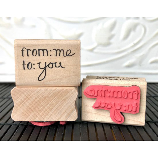 From Me to You Rubber Stamp