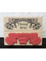Wedding Thank-You Rubber Stamp