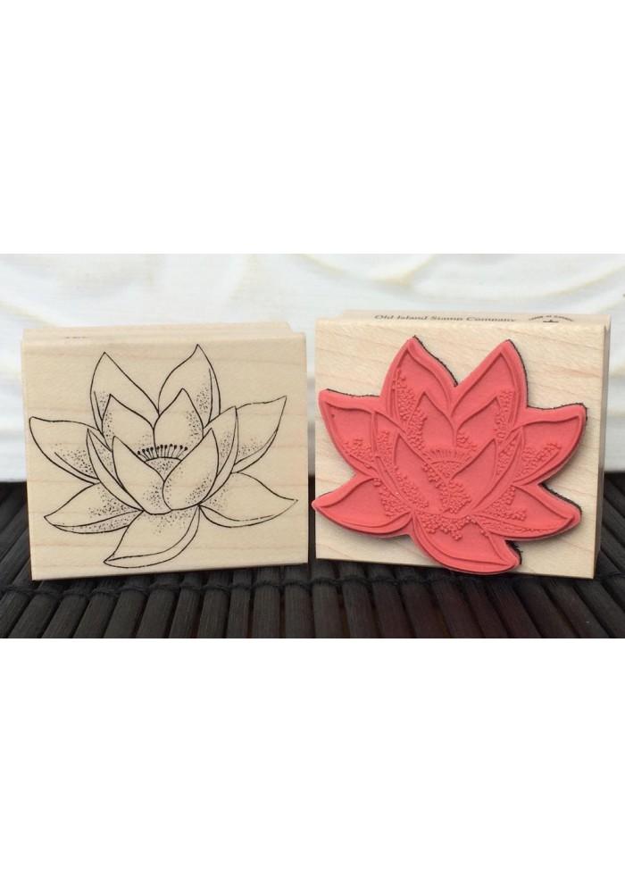 Lotus Flower Rubber Stamp