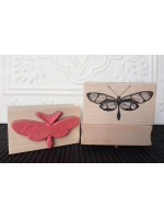Confusa Butterfly Rubber Stamp