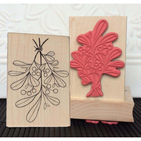 Mistletoe Rubber Stamp
