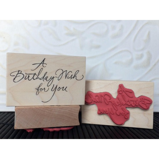 A Birthday Wish for You Rubber Stamp