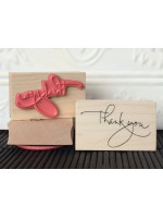 Thank-You Script Rubber Stamp