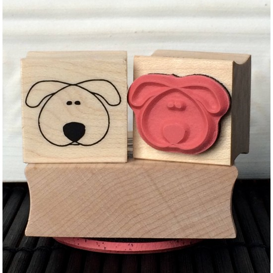 Puppy Face Rubber Stamp