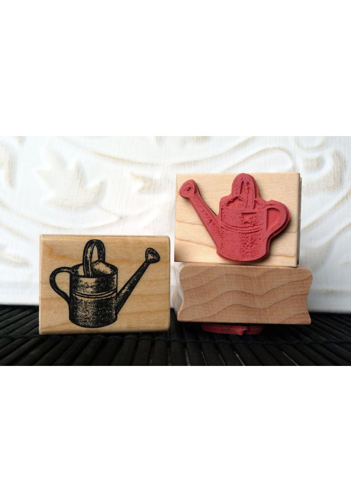 Watering Can Rubber Stamp