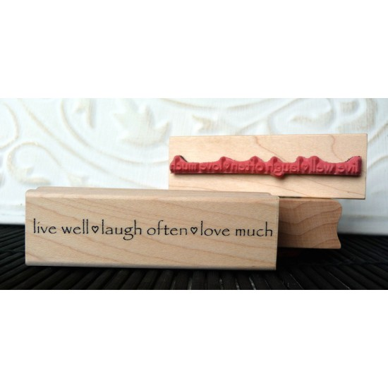 Live Well... Rubber Stamp