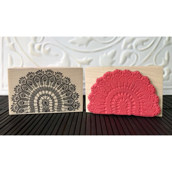 Pineapple Peacock Tapestry Rubber Stamp