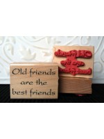 Best Friends Rubber Stamp