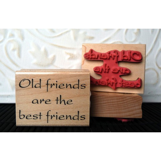 Best Friends Rubber Stamp