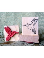 Hummingbird Rubber Stamp