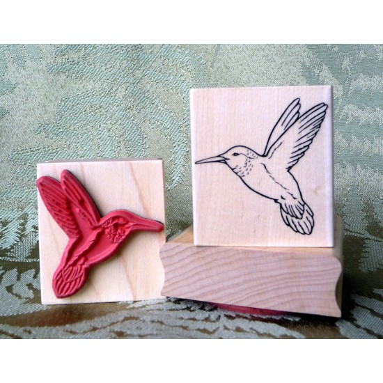 Hummingbird Rubber Stamp