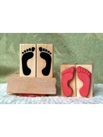 Footprints Rubber Stamp