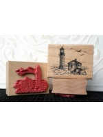 Small Lighthouse Rubber Stamp