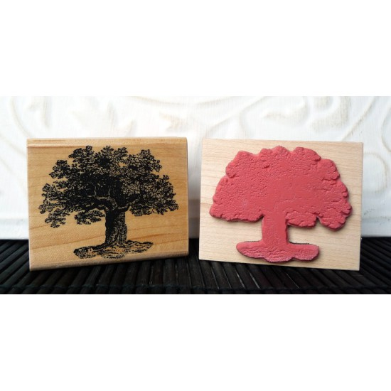 Shaggy Tree Rubber Stamp