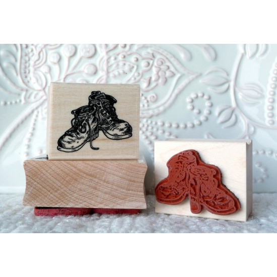 Small Boots Rubber Stamp