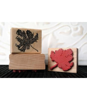 Small Autumn Leaf Rubber Stamp