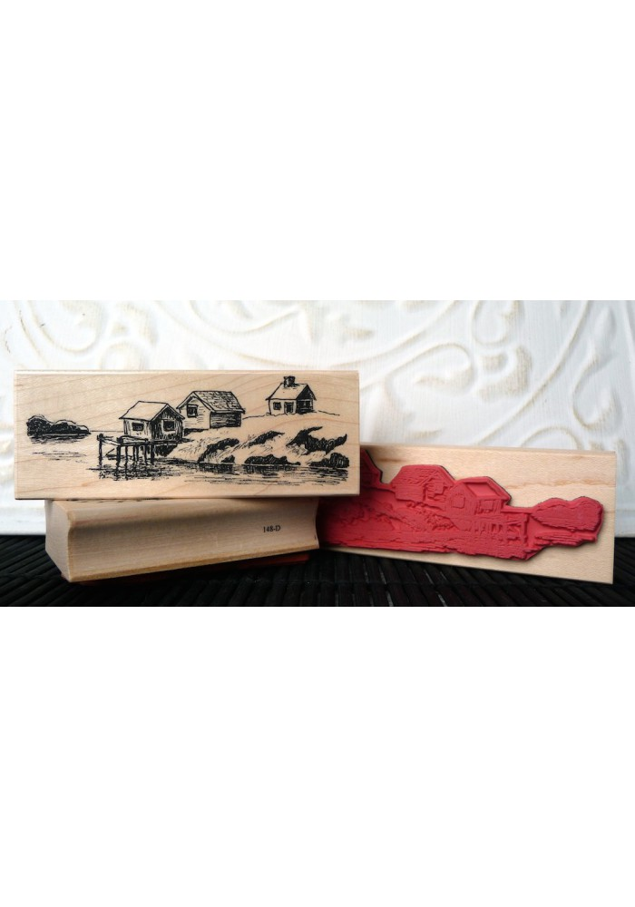 Peggy's Cove Rubber Stamp