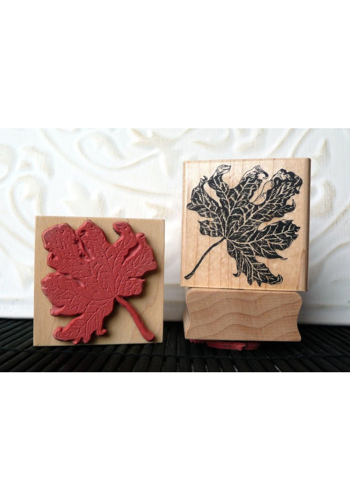 Autumn Maple Leaf Rubber Stamp
