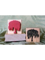 Winter Willow Tree Rubber Stamp