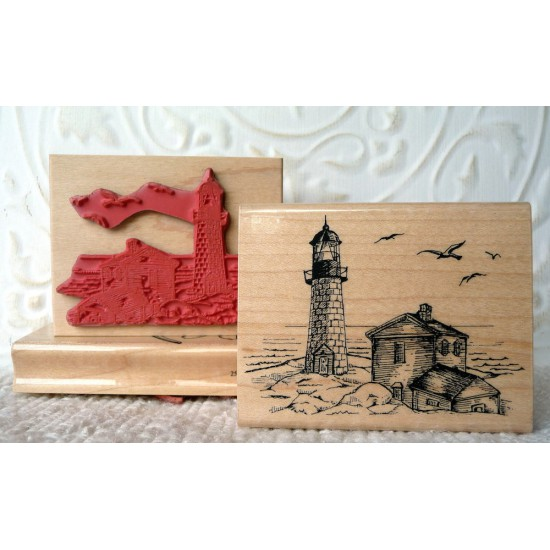 Lighthouse Rubber Stamp