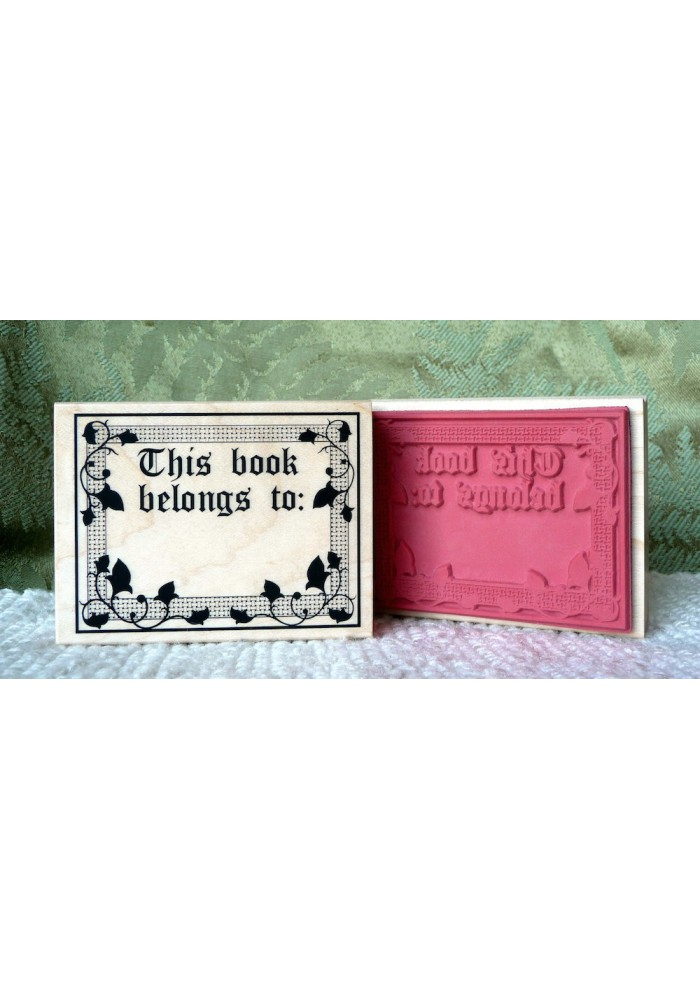Book belongs to Rubber Stamp