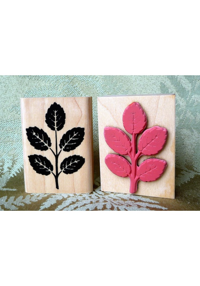 Leaves Rubber Stamp