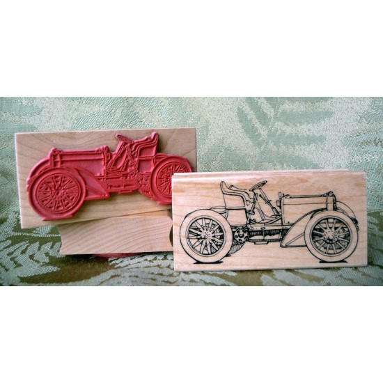 Vintage Mercedes Rubber Stamp